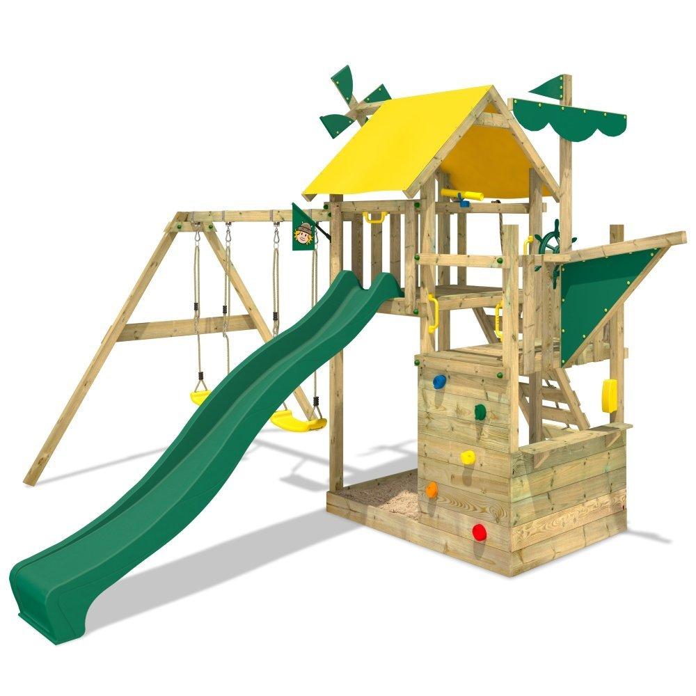 Portique jeux bois cirque et balancoire for Portique bois pas cher