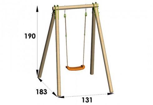 balancoire bois 1 place cirque et balancoire. Black Bedroom Furniture Sets. Home Design Ideas