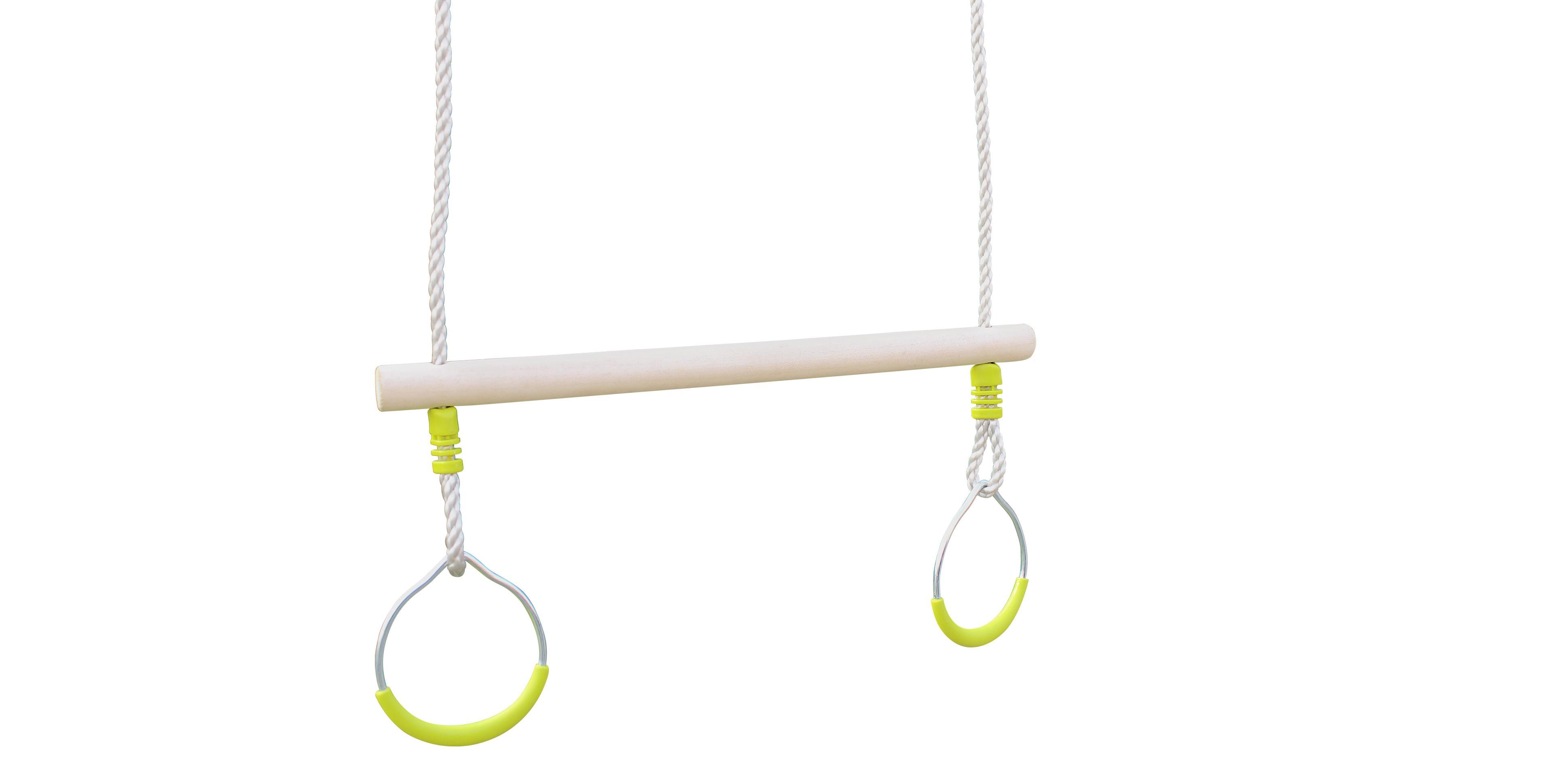 Trap ze pour portique adulte cirque et balancoire for Portique bois pas cher