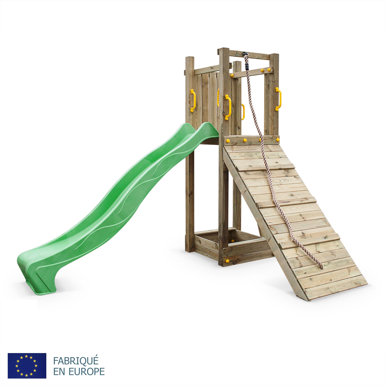 toboggan en bois cirque et balancoire. Black Bedroom Furniture Sets. Home Design Ideas