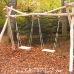 Balançoires en bois de jardin