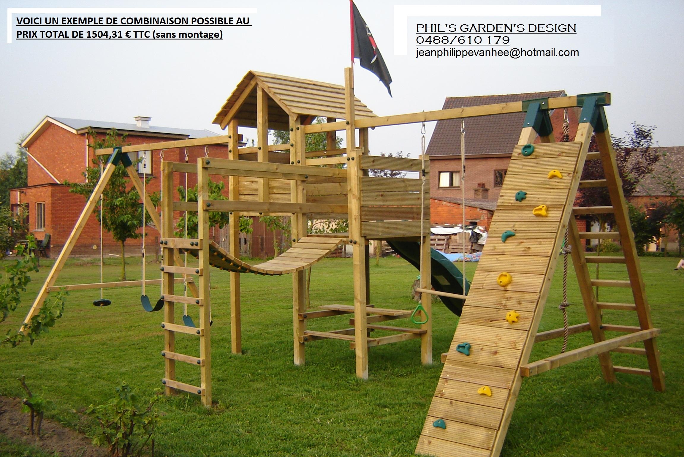 portique de jeux pour enfants cirque et balancoire. Black Bedroom Furniture Sets. Home Design Ideas
