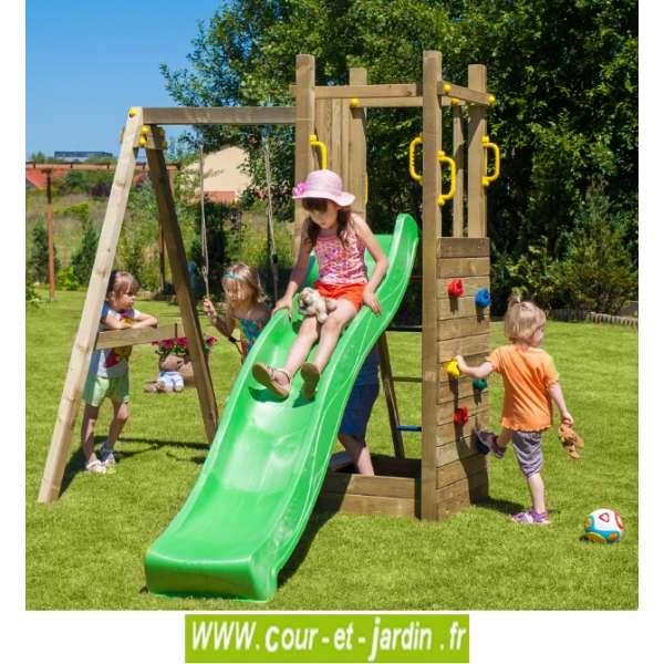 Portique jeux jardin Cirque et balancoire # Aire De Jeux En Bois D Occasion