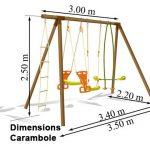Dimension portique balançoire