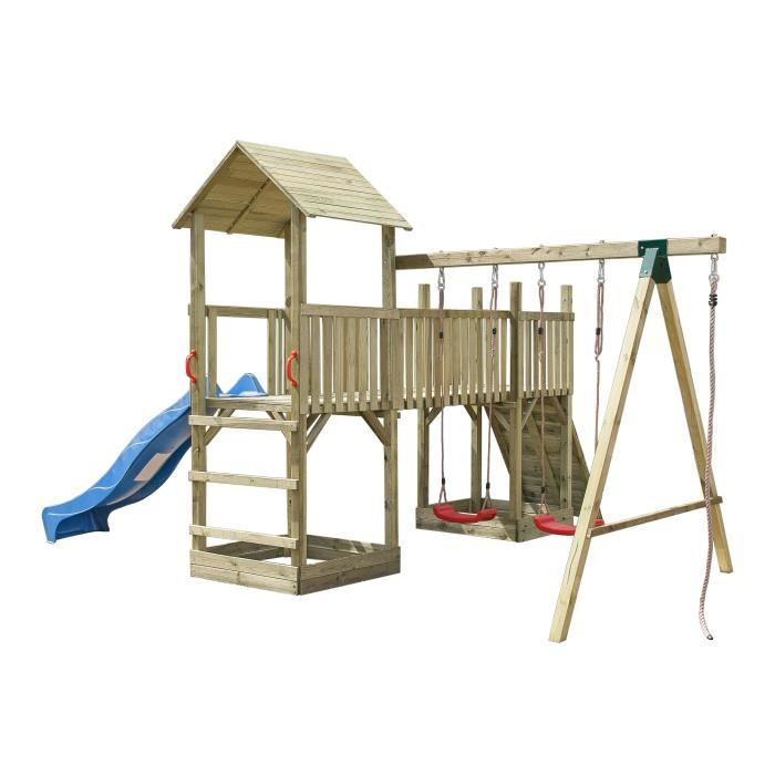 aire de jeux en bois pas cher balancoire achat cirque et. Black Bedroom Furniture Sets. Home Design Ideas