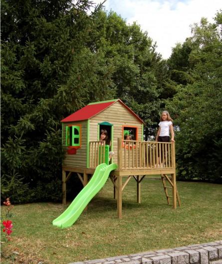 cabane balancoire toboggan bois abri de jardin et. Black Bedroom Furniture Sets. Home Design Ideas