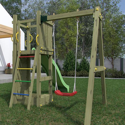 portique jeux enfants abri de jardin et balancoire id e. Black Bedroom Furniture Sets. Home Design Ideas