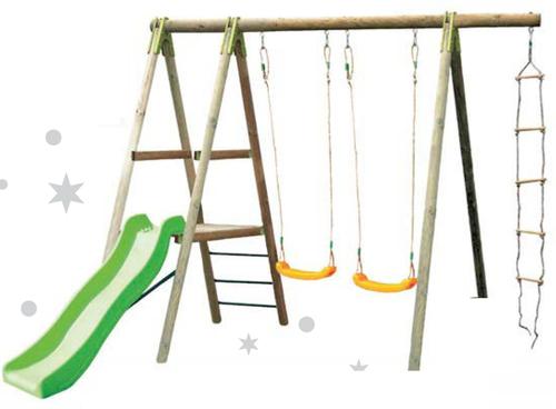 Portique bois leclerc - Abri de jardin et balancoire idée