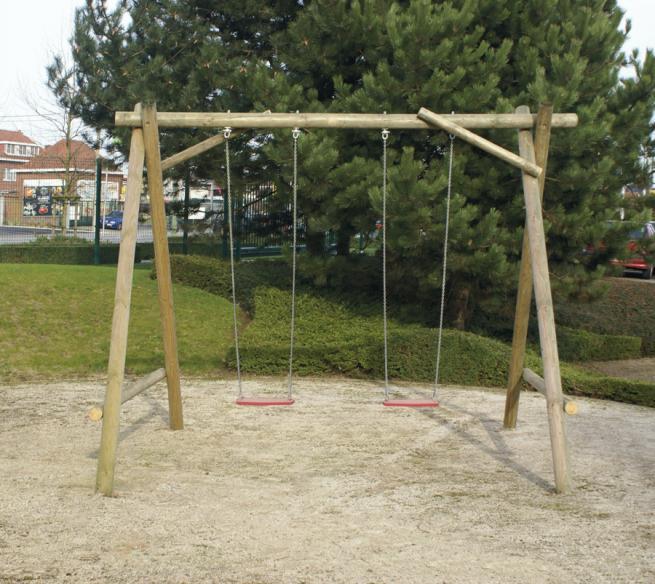 Accessoire portique bois abri de jardin et balancoire id e - Portique balancoire en fer ...