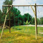 Portique de jardin en bois
