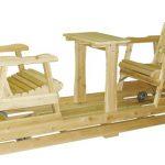 Balancoire en bois exterieur