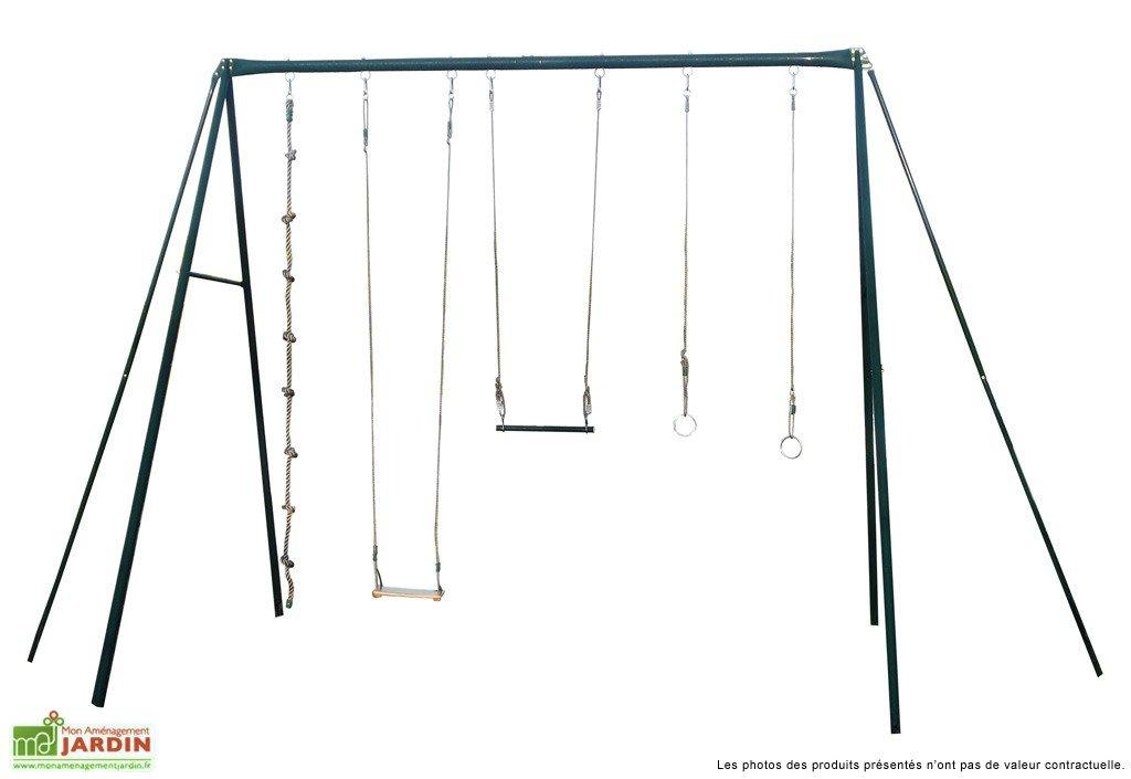 portique balancoire en fer abri de jardin et balancoire id e. Black Bedroom Furniture Sets. Home Design Ideas