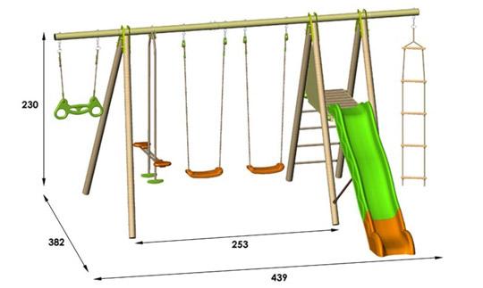 Portique trigano abri de jardin et balancoire id e - Portique balancoire en fer ...