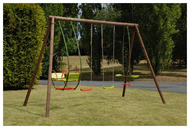 Bois pour balancoire portique abri de jardin et balancoire id e - Portique balancoire en fer ...