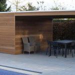 Abri jardin design toit plat