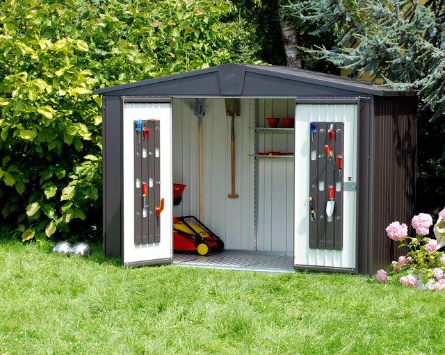 cabane de jardin pour outils abri de jardin et balancoire id e. Black Bedroom Furniture Sets. Home Design Ideas