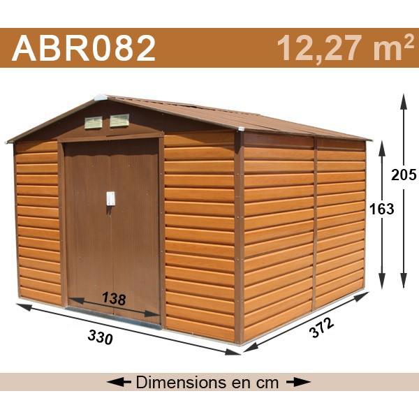 abri jardin tole imitation bois abri de jardin et. Black Bedroom Furniture Sets. Home Design Ideas
