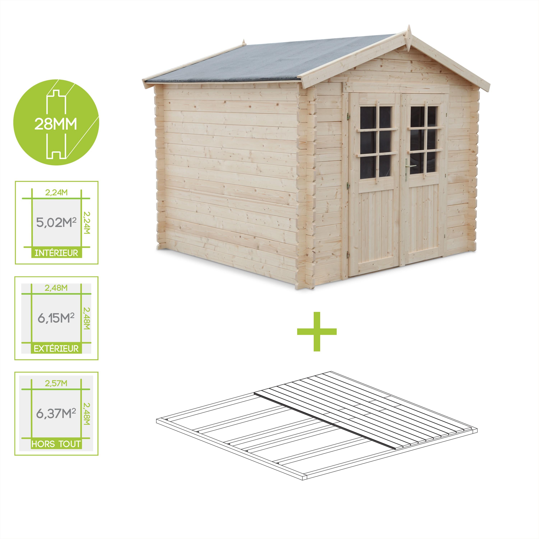 Abri jardin surface plancher - Abri de jardin et balancoire idée
