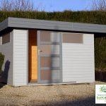 Abri de jardin toit plat metal