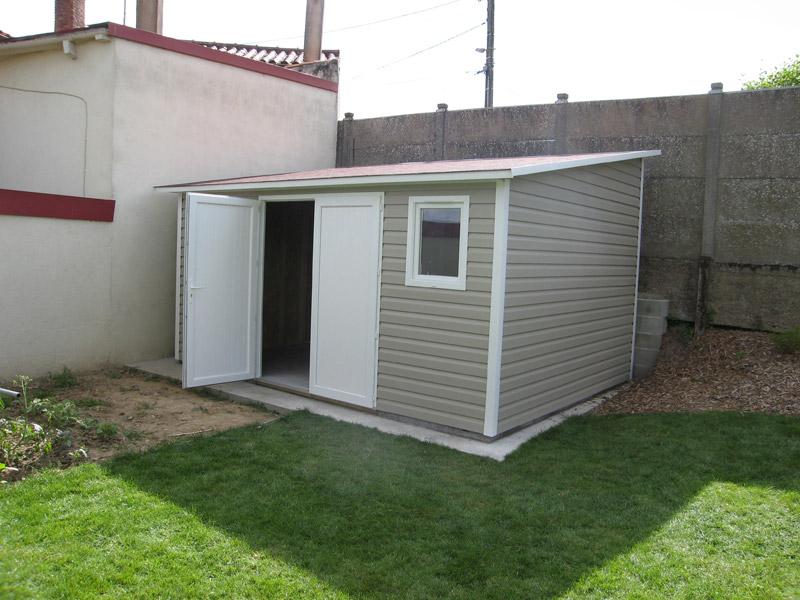Abri jardin toit 1 pente - Abri de jardin et balancoire idée