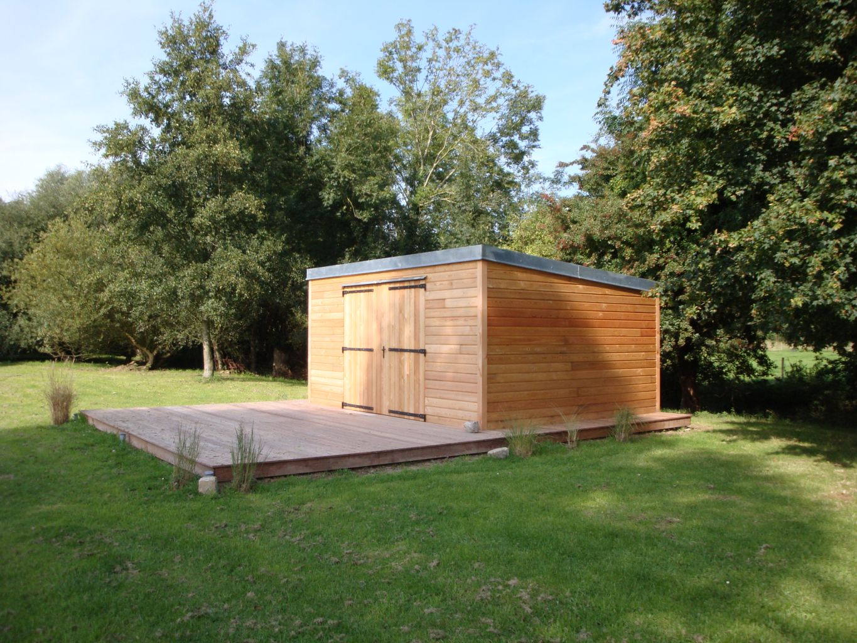 Abri de jardin garage en bois