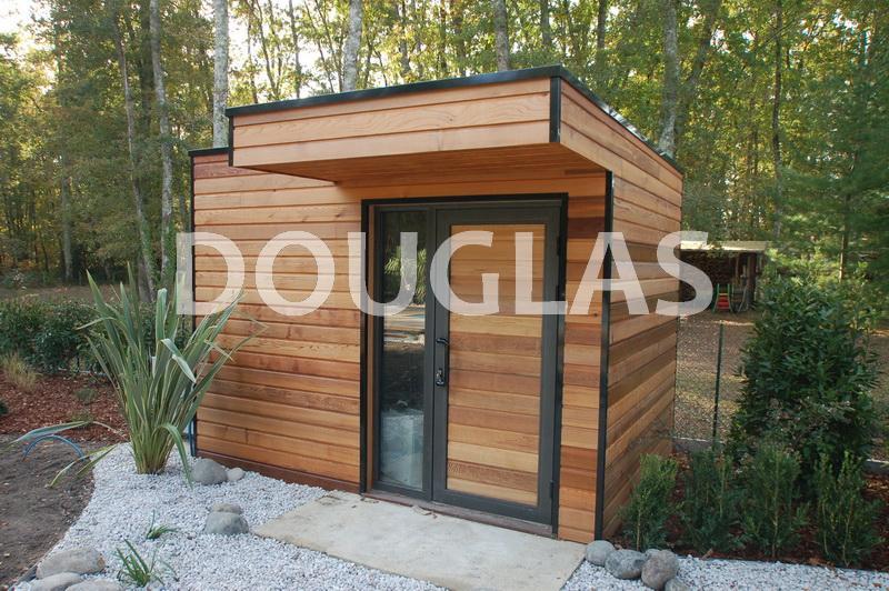 Cabane jardin contemporaine abri de jardin et balancoire - Cabane de jardin en resine ...