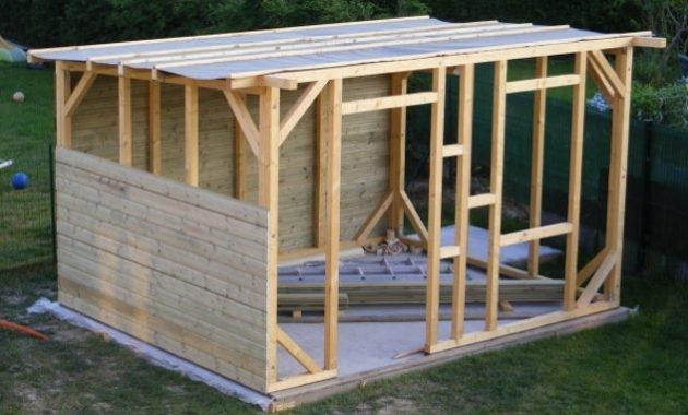 Cabane de jardin fait maison - Abri de jardin et balancoire idée