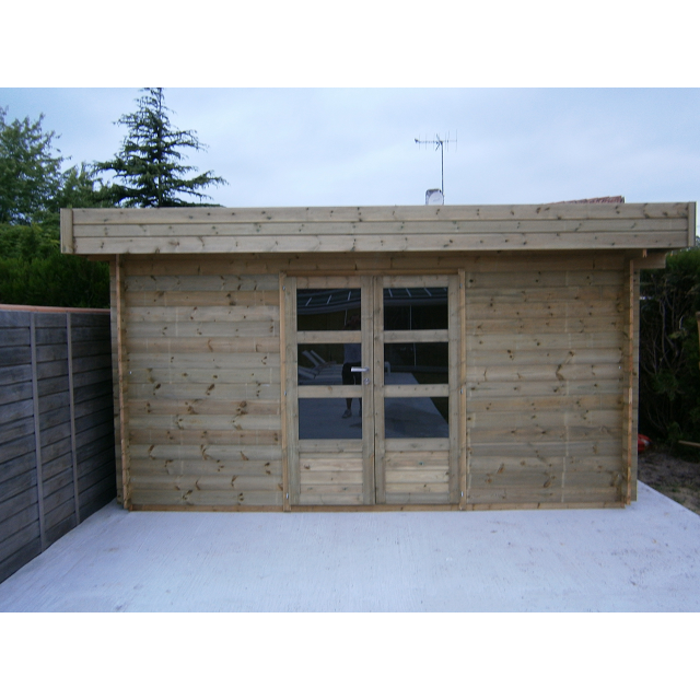 Abris de jardin toit plat autoclave - Abri de jardin et balancoire idée