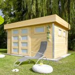Abri de jardin toit plat en bois