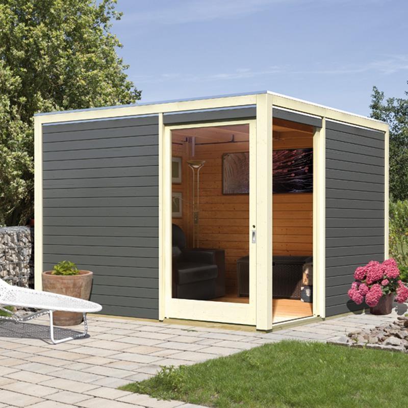 Abri jardin toit plat 5m2 abri de jardin et balancoire id e - Abri de jardin en fer ...