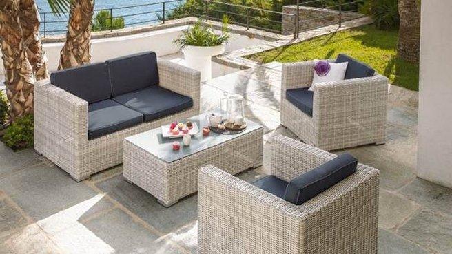 Salon de jardin blanc alinea - Abri de jardin et balancoire idée