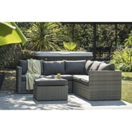 Salon de jardin détente alabama anthracite