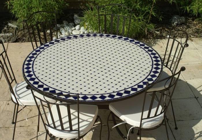 Salon de jardin fer forgé table ronde - Abri de jardin et ...