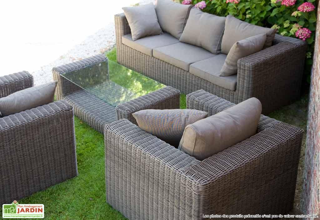 Salon de jardin rotin tresse rond - Abri de jardin et ...