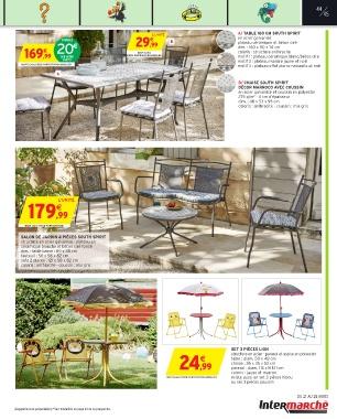 Mobilier de jardin intermarché 2017 - Abri de jardin et balancoire idée