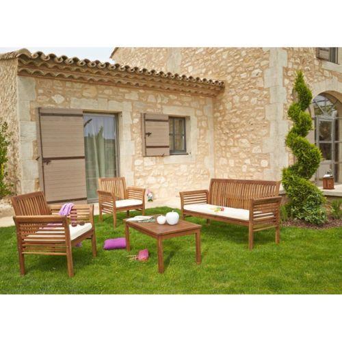 Salon de jardin en acacia carrefour - Abri de jardin et balancoire idée