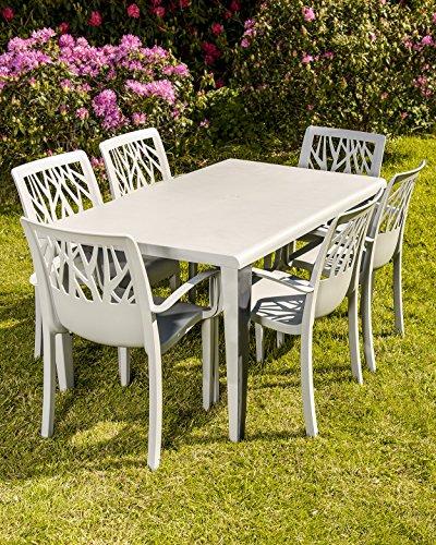 Salon de jardin grosfillex vega gris - Abri de jardin et ...