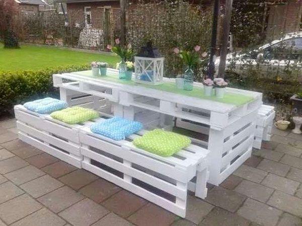 Salon de jardin palette fabrication - Abri de jardin et ...