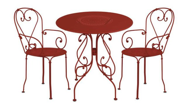 Salon de jardin table bistrot