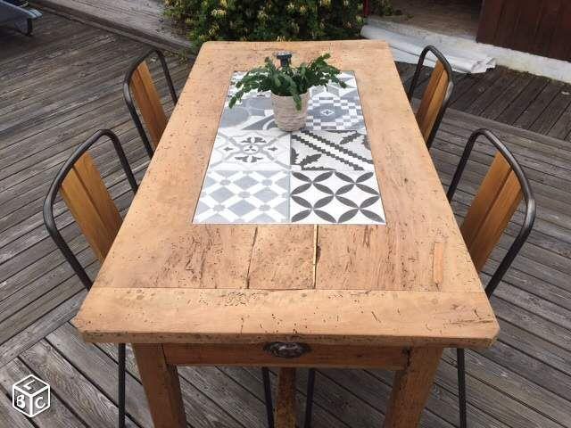 Mobilier de jardin en ciment imitation bois - Abri de jardin et ...