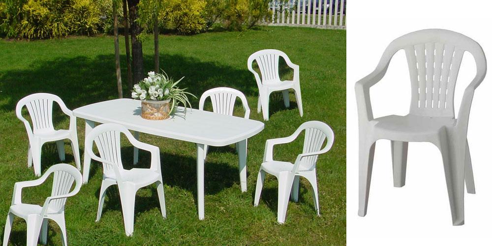 Nettoyage salon de jardin plastique blanc - Abri de jardin ...