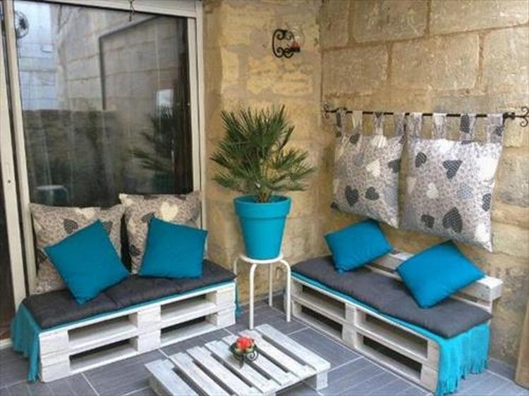 Salon de jardin gris et turquoise - Abri de jardin et ...