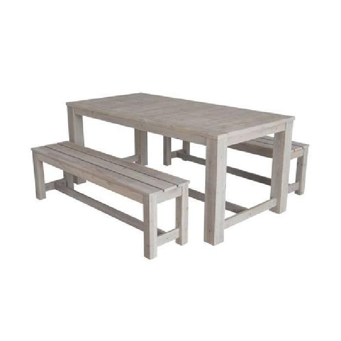 Salon de jardin bois avec banc - Abri de jardin et balancoire idée