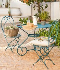 Salon de jardin en fer forgé fermob - Abri de jardin et balancoire idée