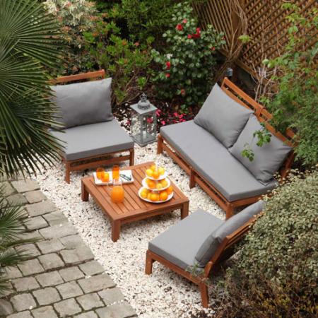 Salon de jardin en acacia massif - Abri de jardin et ...