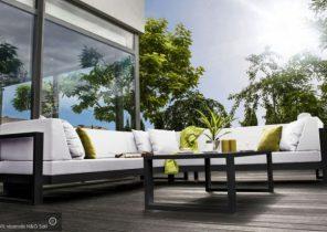 Petit salon de jardin en fer forgé - Abri de jardin et balancoire idée