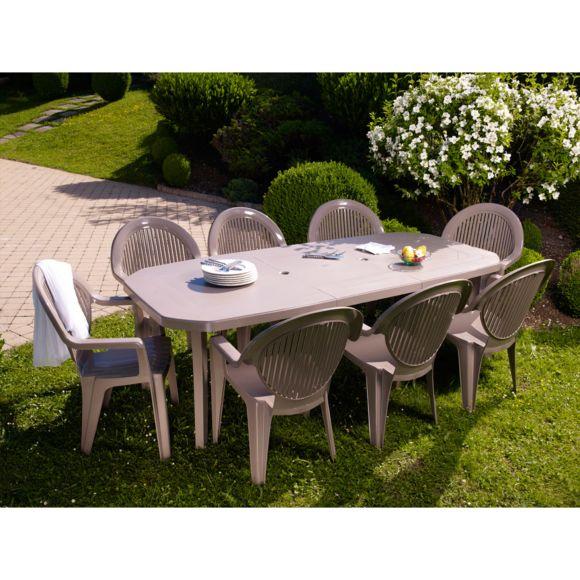 Salon de jardin grosfillex couleur taupe - Abri de jardin et ...