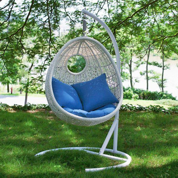 Mobilier de jardin balancelle oeuf - Abri de jardin et balancoire idée