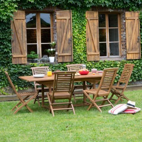 Salon de jardin acacia weldom - Abri de jardin et balancoire ...