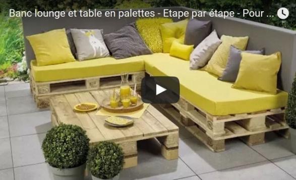 Salon de jardin palette construction - Abri de jardin et balancoire idée